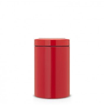 BRABANTIA 484049 1,4L dóza s priehľadným vekom červená