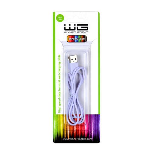 Winner microUSB dátový kábel 1m, biela