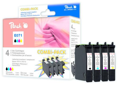 PEACH (alt. pre Epson) T0711 black + T0715 color (gepard) - atrament (5ks)