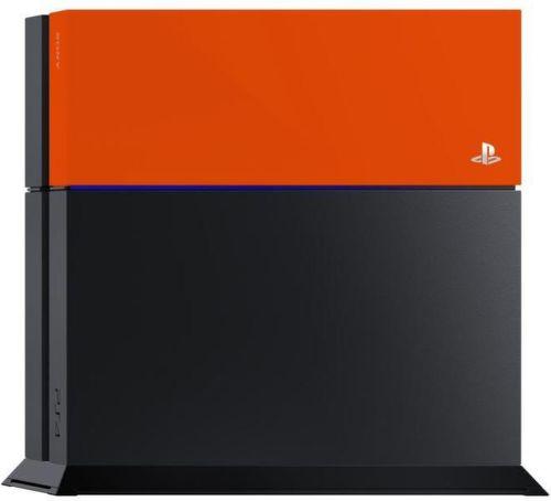 PS4 Farebný kryt na konzolu, oranžový-l