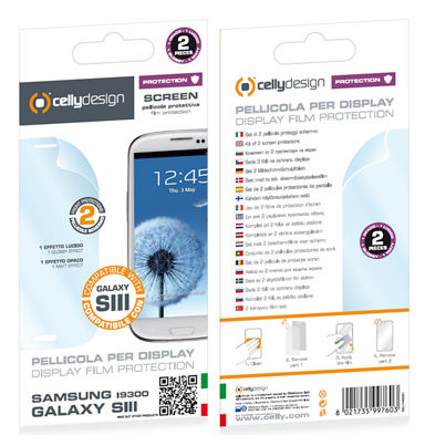CELLY Screen protector pre Samsung Galaxy SIII, 2 ks