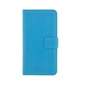 4-OK Book Wallet Uni Case XL 6 Blue