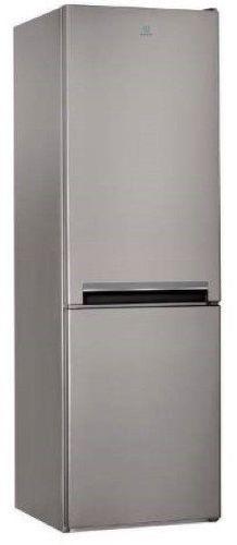 INDESIT LI8 S2 X, strieborná kombinovaná chladnička