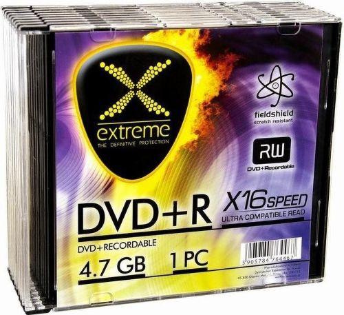 ESPERANZA 1173 DVD+R EXTREME 4,7GB X16 - SLIM CASE 10 ks pack