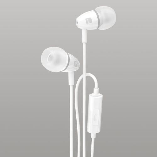 Strudo stereo handsfree s 3,5 mm konektorom, sivo-biela