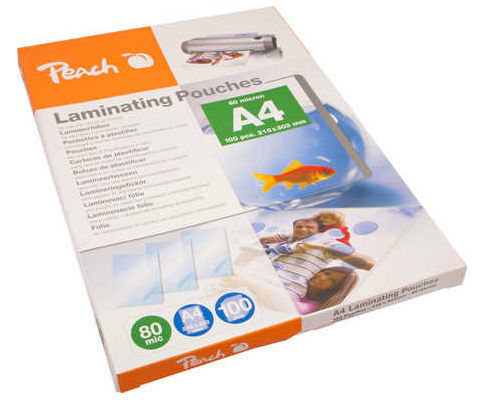 PEACH PP580-02, 100ks 80mic A4 - laminovacia fólia