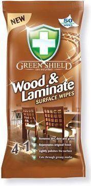 GREEN SHIELD vlhčené utierky na drevo a lamináty