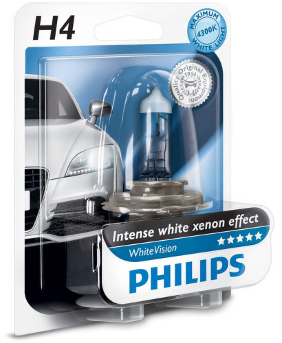PHILIPS LIGHTING H4 WhiteVision, Autožia