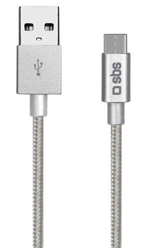 SBS USB-C dátový kábel 1,5m, strieborná