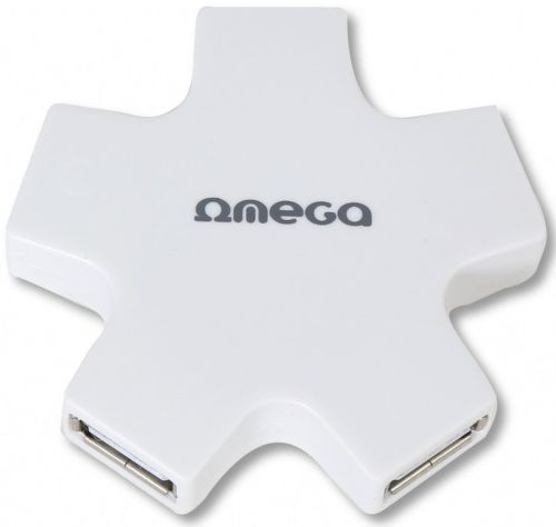 OMEGA 4 PORT STAR WHI, USB Hub