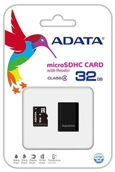 A-DATA microSDHC 32 GB 14 MBS CLASS 4