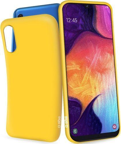 SBS gumené puzdro pre Samsung Galaxy A50, žltá