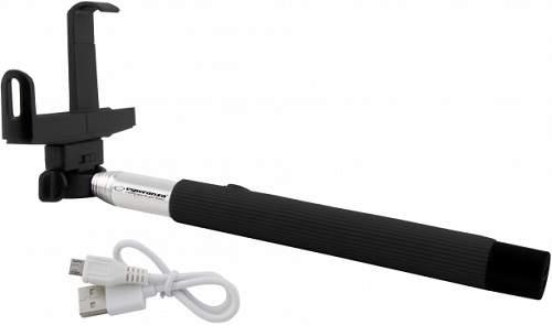 Esperanza EMM115 Bluetooth selfie tyč tripod, čierna