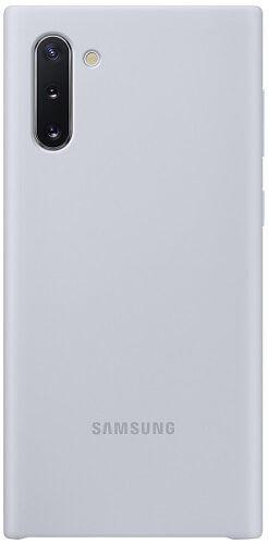 Samsung Silicone Cover pre Samsung Galaxy Note10, strieborná