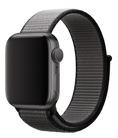 Apple Watch 40 mm športový prevliekací remienok, čiernosivý
