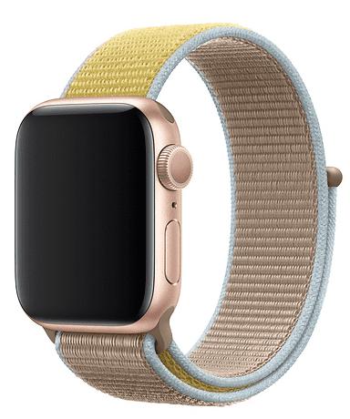 Apple Watch 40 mm športový prevliekací remienok, hnedobéžový
