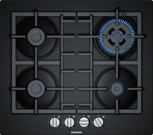 SIEMENS EN6B6HB90, čierna plynová varná doska
