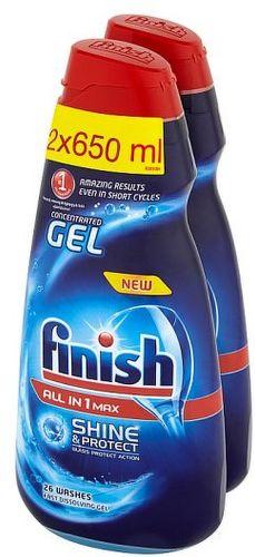 Finish Allin1 2x650 ml, Prostriedok do umývačky