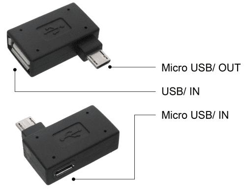 Mobilnet OTG microUSB adaptér s možnosťou prídavného napájania
