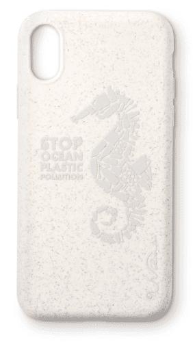Wilma eko puzdro pre Apple iPhone X a Xs, biela s motívom morského koníka