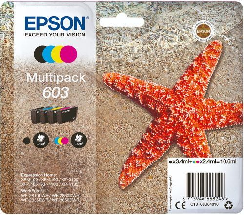 Epson 603 C13T03U64010 balenie 4 náplní