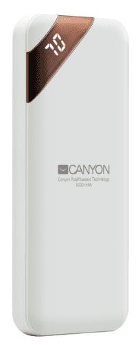 Canyon CNE-CPBP5W 5000 mAh powerbanka, biela