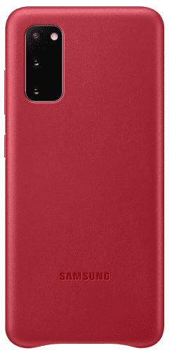 Samsung Leather Cover puzdro pre Samsung Galaxy S20, červená
