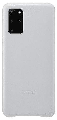 Samsung Leather Cover puzdro pre Samsung Galaxy S20+, svetlo sivá
