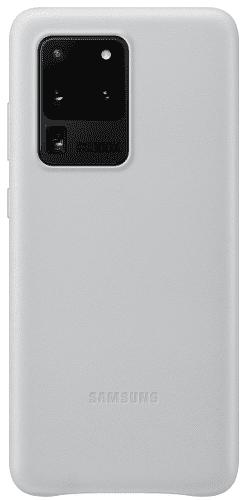 Samsung Leather Cover puzdro pre Samsung Galaxy S20 Ultra, svetlo sivá