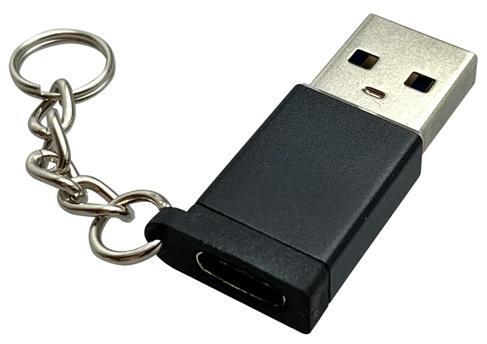 Mobilnet redukcia USB-C-USB-A, čierna