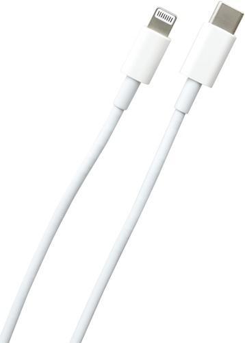 Mobilnet USB-C/Lighting kábel 1m, biela