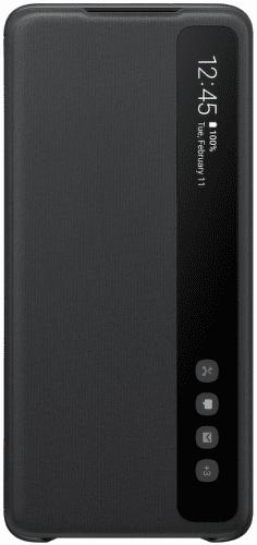 Samsung Clear View Cover pre Samsung Galaxy S20+, čierna