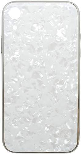 Mobilnet Marble Glass puzdro pre Apple iPhone Xr, biela