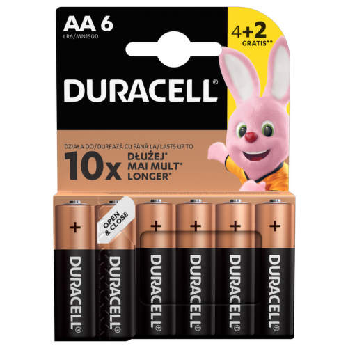 Duracell Basic AA 6K 1500 6 ks