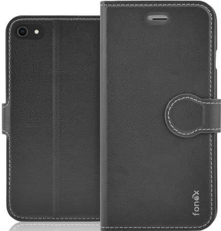 Fonex Identity knižkové puzdro pre Apple iPhone SE 2020/8/7, čierna