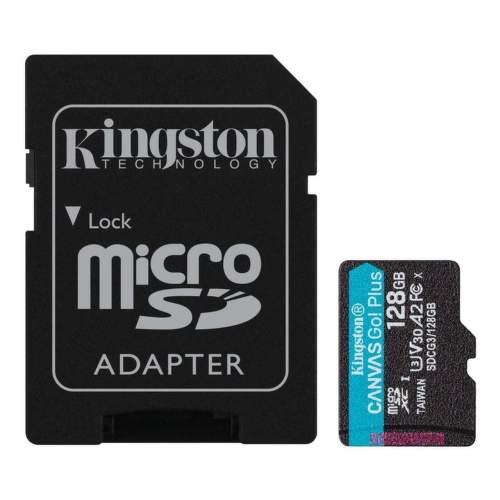 Kingston Canvas Go Plus 128 GB mSDXC U3 V30 + SD Adaptér