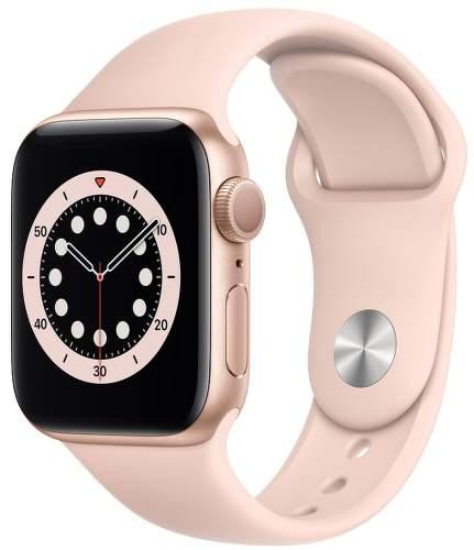 Apple Watch Series 6 40 mm zlatý hliník s pieskovo ružovým športovým remienkom-1