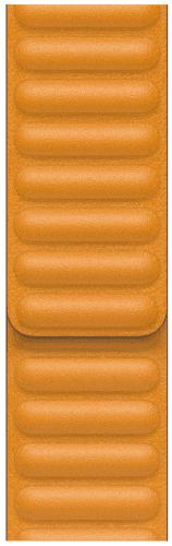 Apple Watch 44 mm kožený remienok nechtíkovo oranžový S/M