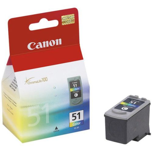 CANON CL-51, Colour Ink Cartridge, BL SEC