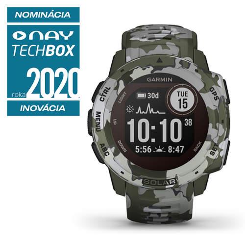 Garmin Instinct Solar smart hodinky lichen camo