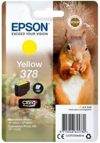 Epson 378 Yellow (C13T37844010) žltá