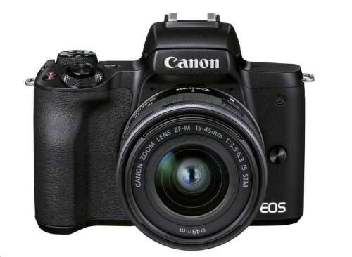 Canon EOS M50 Mark II + EF-M 15-45mm IS STM + EF-M 55-200mm IS STM čierna