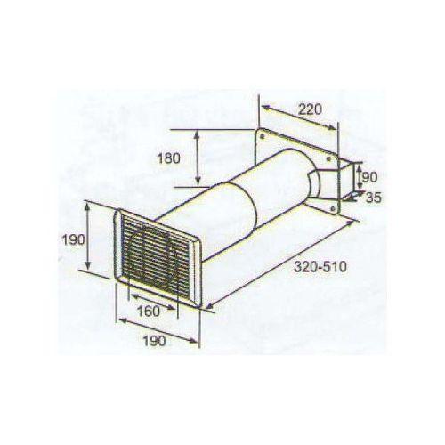 ELICA 1053 V, plastove rozvody 150mm