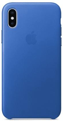 Apple kožené puzdro pre iPhone X, modrá