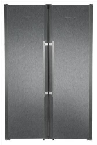 Liebherr SBSbs 7263,čená nerezová americká chladnička