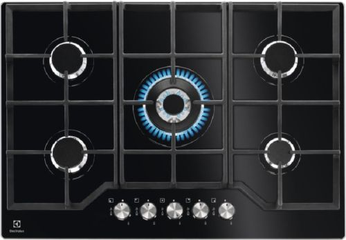 ELECTROLUX KGG7536K, čierna plynová varná doska