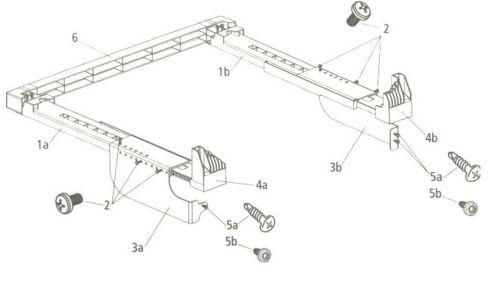 Beko 2977200300 spojovací diel pre práčky s hĺbkou do 54 cm