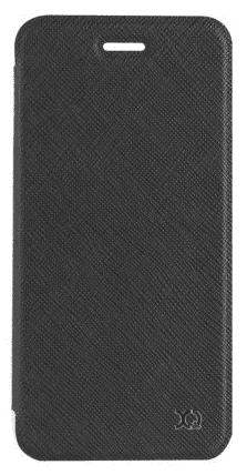 XQISIT Flap Cover Adour puzdro pre iPhone 8/7/6S/6, čierna