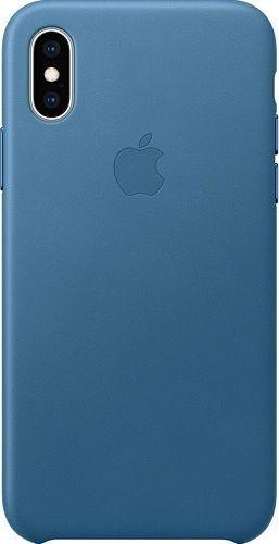 Apple kožené puzdro pre Apple iPhone XS, modro-sivá