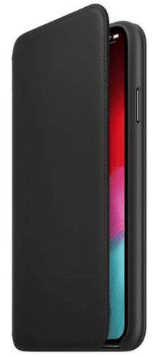 Apple kožené puzdro Folio pre iPhone XS Max, čierna